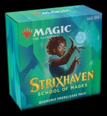 Magic the Gathering: Strixhaven Prerelease Kit - Quandrix (Blue/Green)