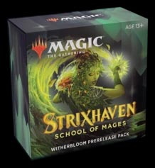 Magic the Gathering: Strixhaven Prerelease Kit - Witherbloom (Green/Black)