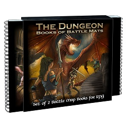 Books of Battle Mats: The Dungeon - Used