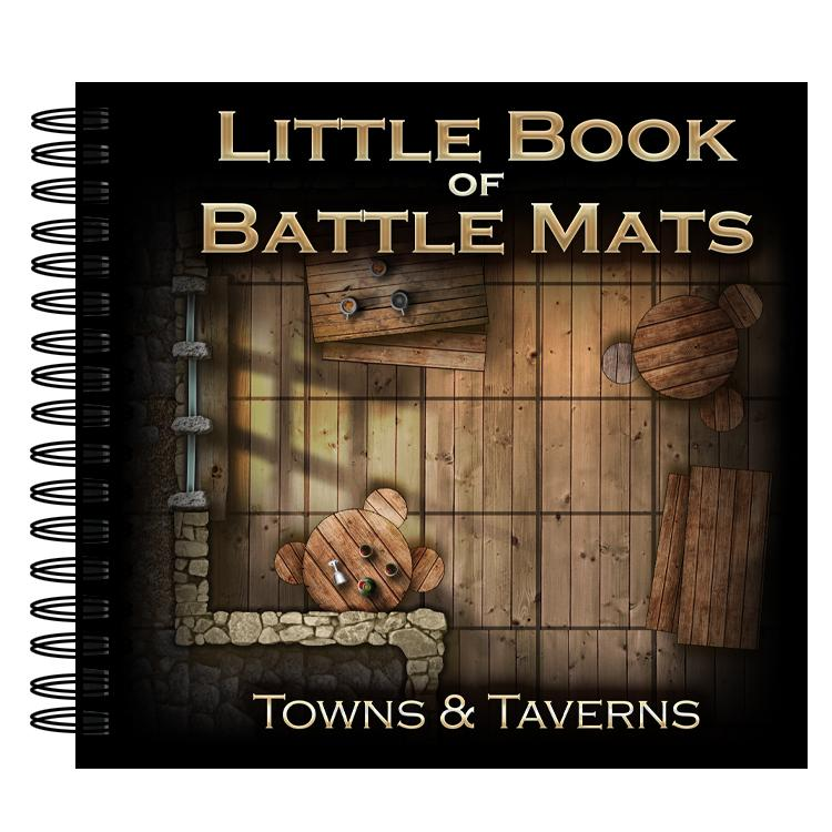 Little Book of Battle Mats: Towns and Taverns Edition - Used