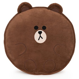 Plushie: LINE FRIENDS Brown Pillow