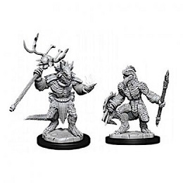 Dungeons and Dragons: Nolzur's Marvelous Unpainted Miniatures Wave 12: Lizardfolk and Lizardfolk Shaman