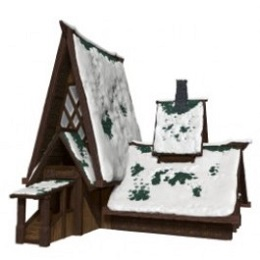 Dungeons and Dragons Icons of the Realms: Icewind Dale Rime of the Frostmaiden: Lodge Papercraft Set