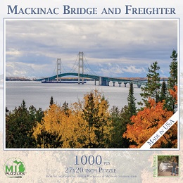Mackinac Bridge and Freighter Puzzle (1000 Pieces)