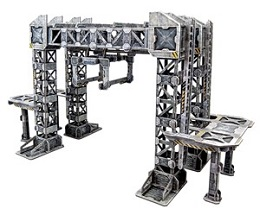 TinkerTurf Sci-Fi Terrain: MagLev Rail and Car: Neutral