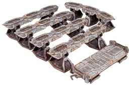 TinkerTurf Sci-Fi Terrain: MagLev Rail and Car: Abandoned