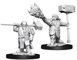 Dungeons and Dragons: Nolzur's Marvelous Unpainted Miniatures Wave 11: Male Dwarf Cleric