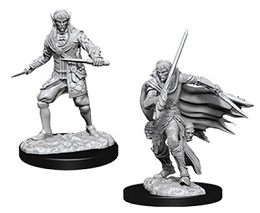 Pathfinder Deep Cuts Unpainted Minis: Male Elf Rogue