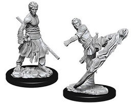 Dungeons and Dragons: Nolzur's Marvelous Unpainted Miniatures: Male Half-Elf Monk
