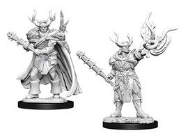 Pathfinder Deep Cuts Unpainted Minis: Male Half-Orc Druid