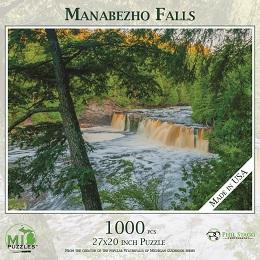 Manabezho Falls (Porcupine Mountains) Puzzle (1000 Pieces)