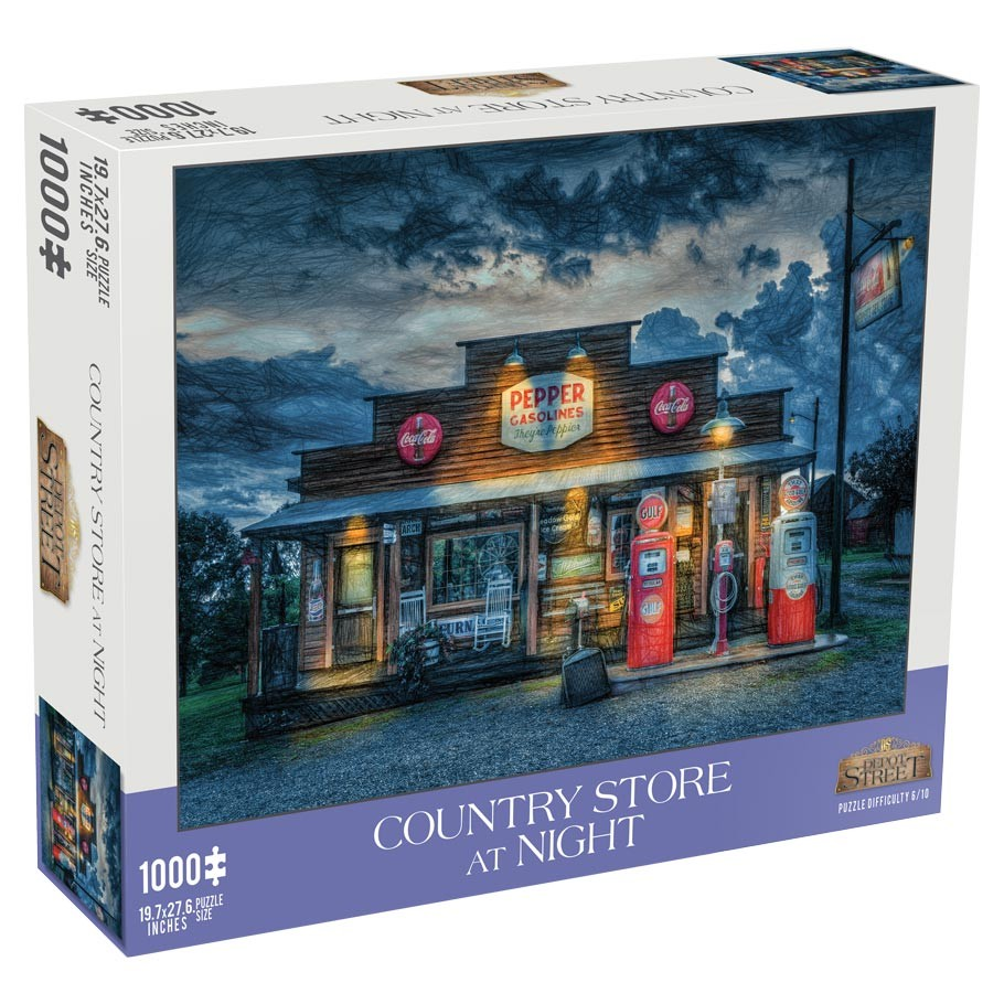Country Store at Night Puzzle - 1000 Pieces