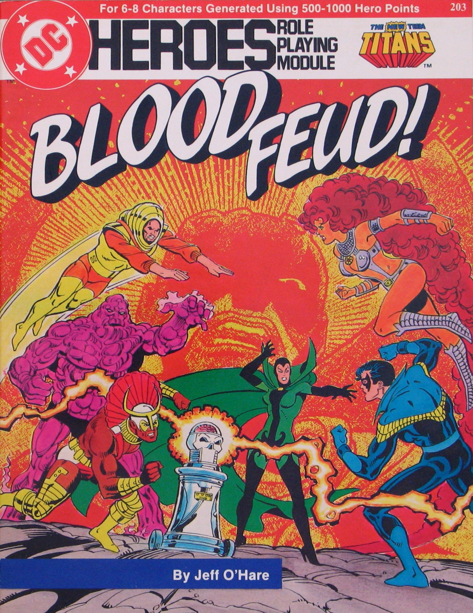 DC Heroes Role Playing Module: Blood Feud - Used