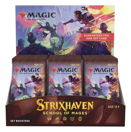 Magic the Gathering: Strixhaven: School of Mages Set Booster Box (30 packs)