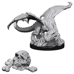 Dungeons and Dragons: Nolzur's Marvelous Unpainted Miniatures: Black Dragon Wyrmling