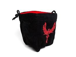 Large Microfiber Dice Bag: Phoenix