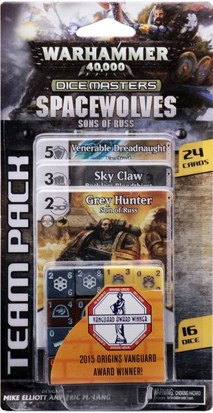 Warhammer 40k Dice Masters: Space Wolves Son of Russ Team Pack