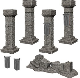 Dungeons and Dragons: Nolzur's Marvelous Unpainted Miniatures Wave 11:Pillars and Banners