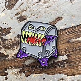Grey Mimic Enamel Pin