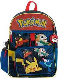 Pokemon 5 Piece Backpack Set