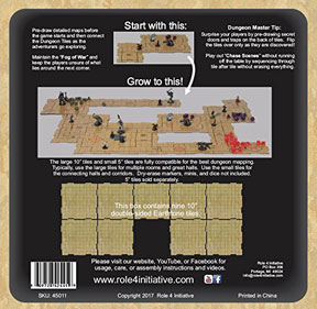 """Dungeon Tiles: Earthtone: 10"""" Square (9)"""