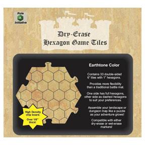 """Dungeon Tiles: Earthtone: 6"""" Hex (33)"""