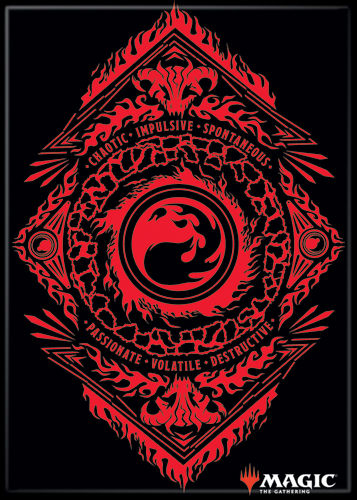 Magic the Gathering Magnet 2.5 X 3.5: Red Mana Symbol