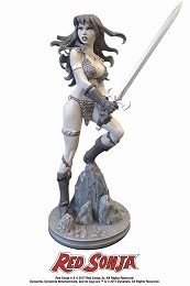 Red Sonja Black and White Statue