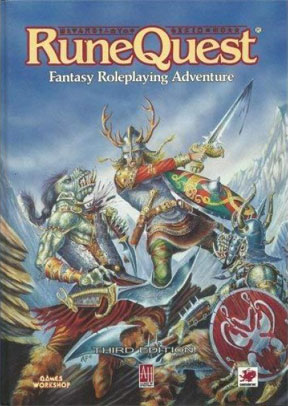 RuneQuest 3rd Ed: Fantasy Roleplaying Adventure HC - USED