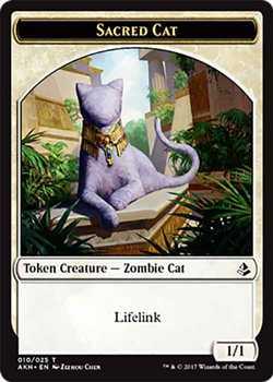 Sacred Cat Token - White - 1/1