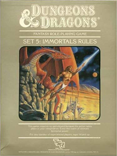Dungeons and Dragons 1st ed: Set 5: Immortal Rules Box Set- Used