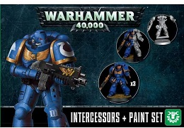 Warhammer 40K: Space Marines Assault Intercessor and Paint Set 60-11