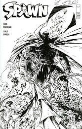 Spawn no. 314 (1992 Series) (Black and White Cover)