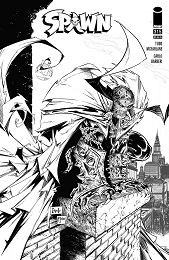 Spawn no. 315 (1992 Series) (Black and White Variant)