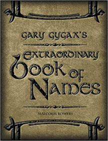 Gary Gygax's: Extraordinary Book of Names HC - USED