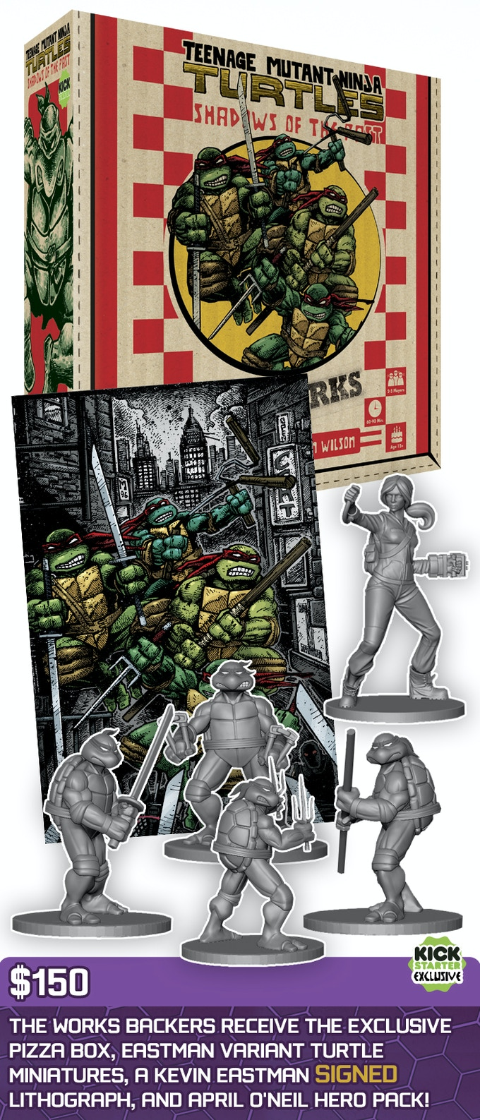 Teenage Mutant Ninja Turtles: Shadows of the Past (Kickstarter Edition) - USED - By Seller No: 1969 David Whitford
