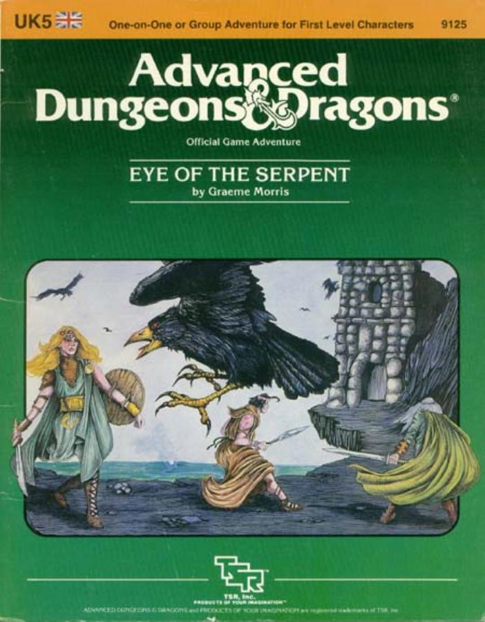 Dungeons and Dragons 2nd ed: Eye of the Serpent - Used