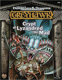 Dungeons and Dragons 2nd Ed: Greyhawk: Crypt of Lyzandred the Mad - USED