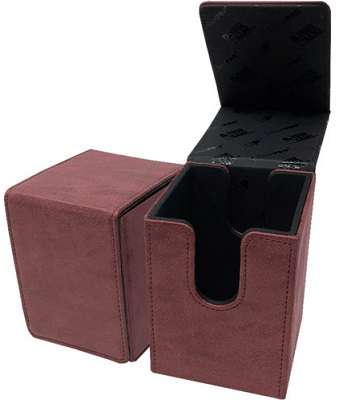 Deckbox: Alcove Flip: Suede Collection: Ruby