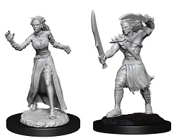 Magic The Gathering Unpainted Miniatures Wave 13: Vampire Lacerator and Vampire Hexmage