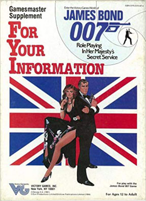 James Bond 007 Role Playing: For Your Information - USED