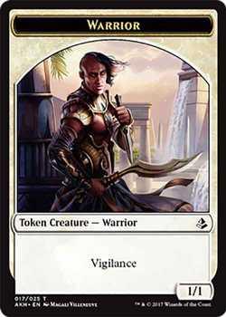 Warrior Token with Vigilance - White - 1/1