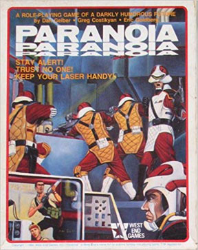 Paranoia 1st Ed Role Playing Game - Box SET