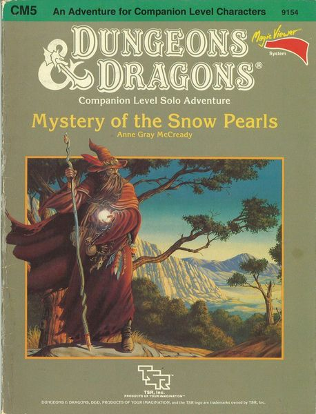 Dungeons and Dragons 1st Ed: Mystery of the Snow Pearls - USED
