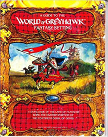 Dungeons and Dragons 1st Ed: A Guide to World of Greyhawk Fantasy Setting Book with Maps - USED