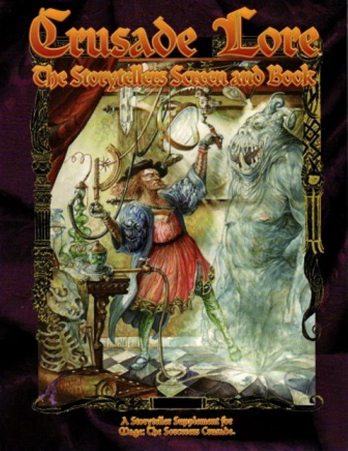 Mage: The Sorcerers Crusade: Crusade Lore Book w/ Storytellers Screen - Used