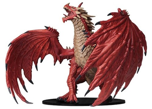 Pathfinder Deep Cuts Unpainted Minis: Gargantuan Red Dragon