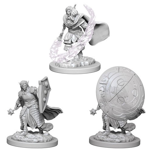 Dungeons and Dragons Nolzurs Marvelous Unpainted Minis: Elf Male Cleric