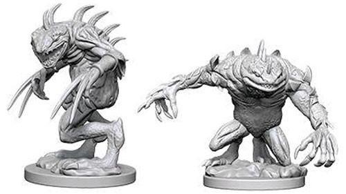 Dungeons and Dragons Nolzurs Marvelous Unpainted Minis: Grey Slaad and Death Slaad