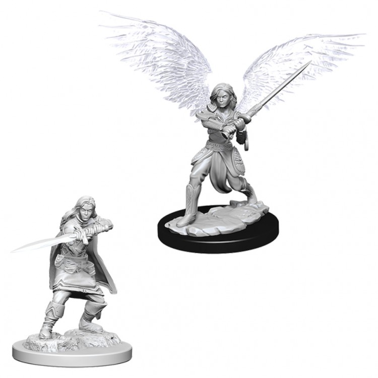 Dungeons and Dragons Nolzurs Marvelous Unpainted Minis: Female Aasimar Fighter W6